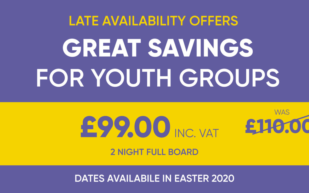 Late Availability Offers This Easter – Youth