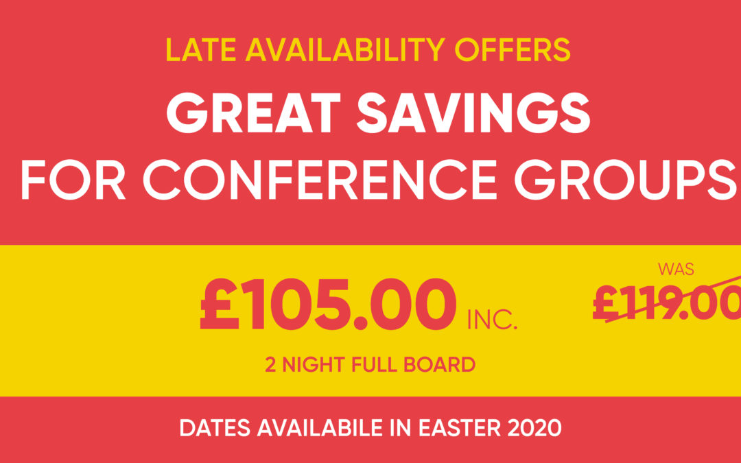 Late Availability Offers This Easter – Conference